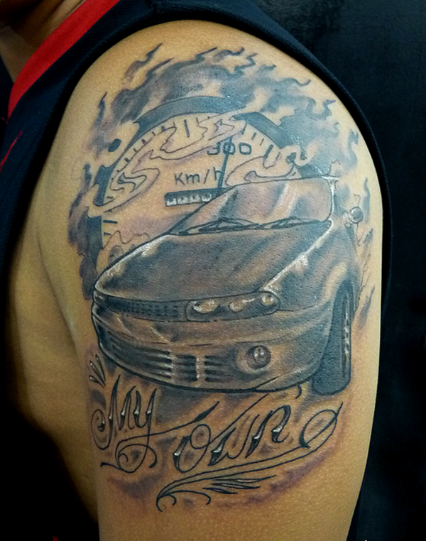 Best Free Car Tattoo designs and Ideas (1)