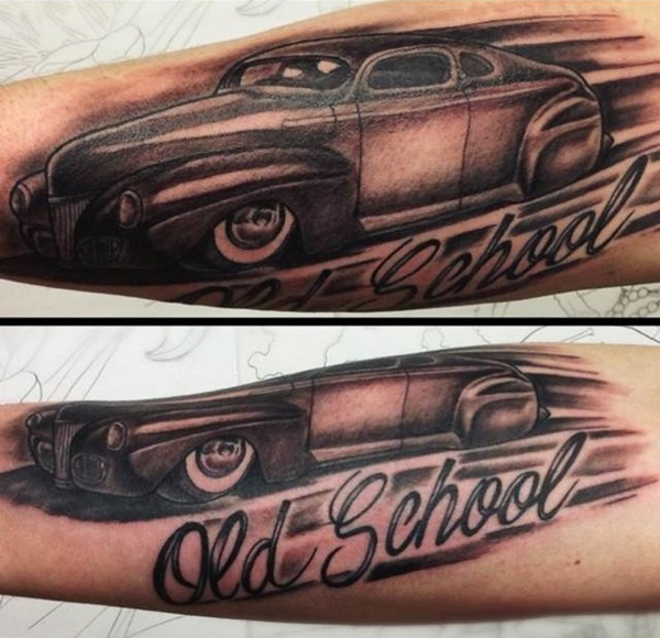 Best Free Car Tattoo designs and Ideas (34)