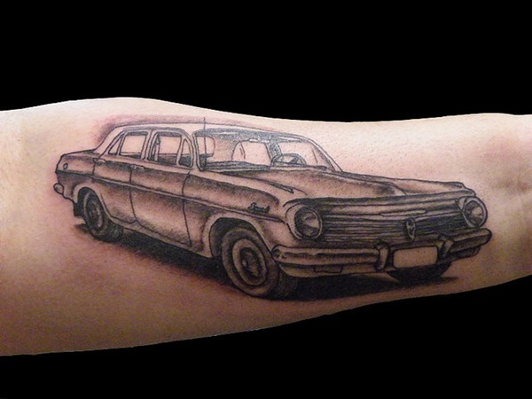 Best Free Car Tattoo designs and Ideas (38)