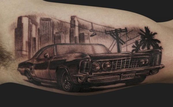 Best Free Car Tattoo designs and Ideas (45)