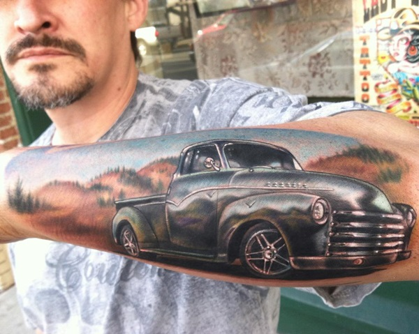Best Free Car Tattoo designs and Ideas (46)