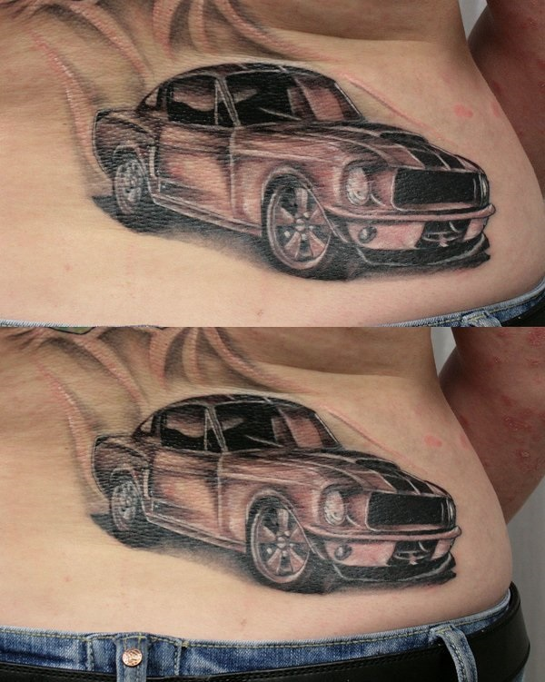 Best Free Car Tattoo designs and Ideas (47)