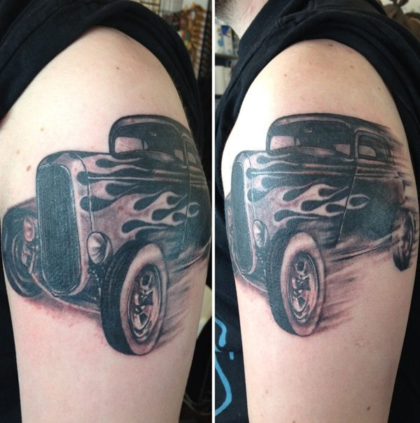 Best Free Car Tattoo designs and Ideas (49)