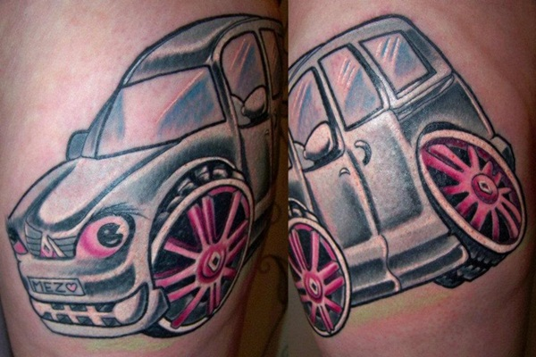 Best Free Car Tattoo designs and Ideas (50)