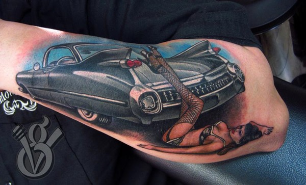 Best Free Car Tattoo designs and Ideas (8)