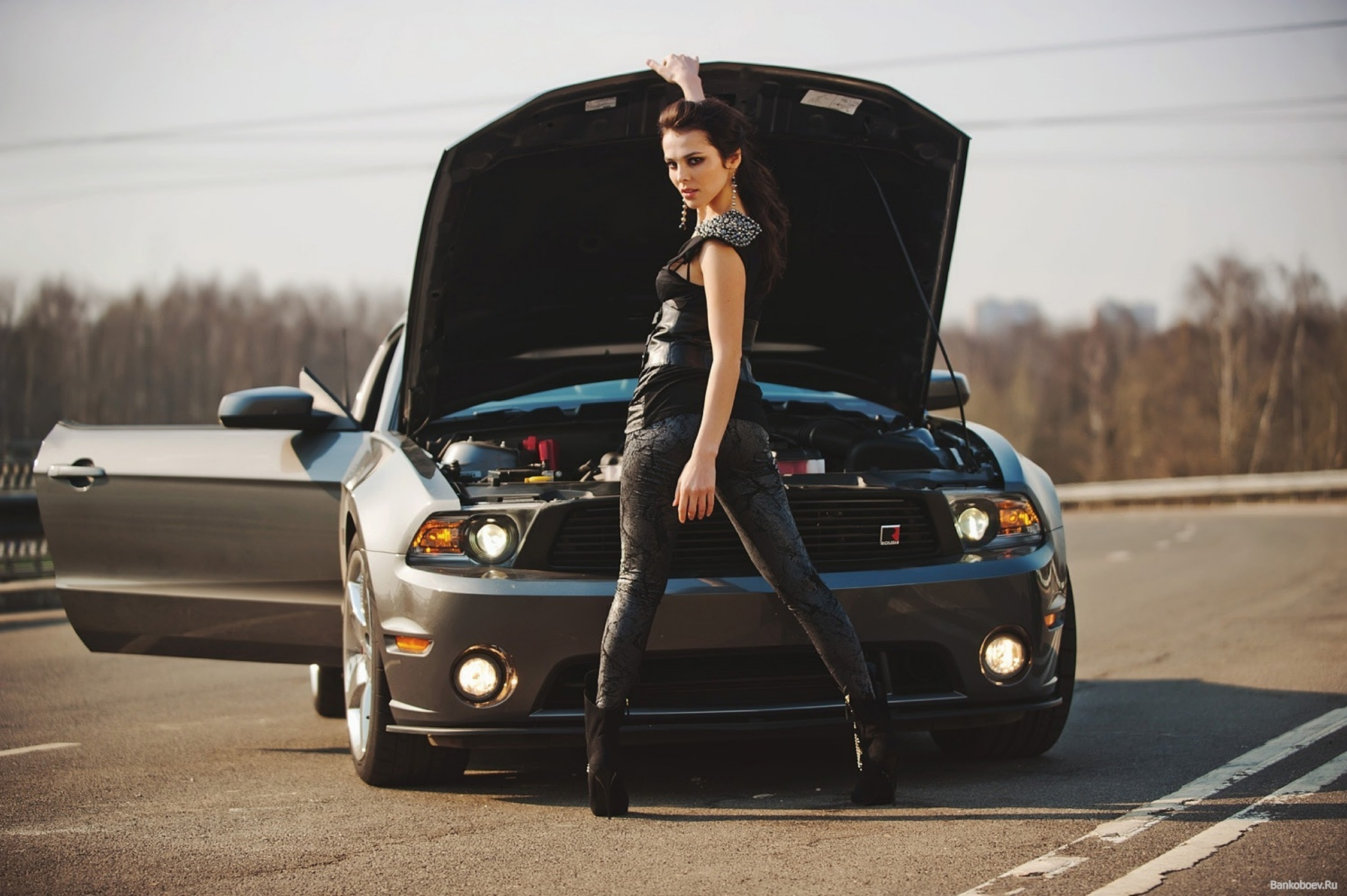 Sport Car And Girl Wallpaper